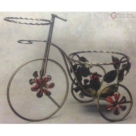 WROUGHT IRON BICYCLE POT HOLDER