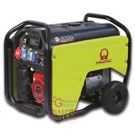 PRAMAC FOUR STROKE CURRENT GENERATOR 220V - 380V S-8000 KVA 5.6 HP. SINGLE-PHASE THREE-PHASE