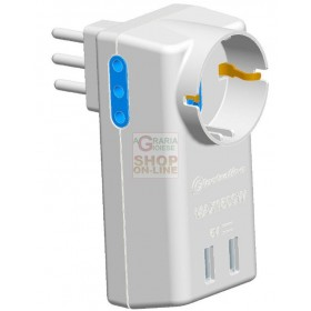 10A-2PR ADAPTER SOCKET WITH 1 SCHIUKO SOCKET 2 USB SOCKETS AND 2 BIVALENT SOCKET