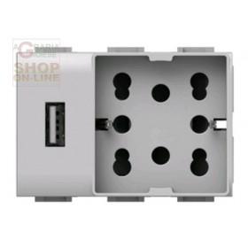 PRESA CORRENTE UNIKA USB UNIVERSALE VIMAR PLANA COD. 4B V14 H21