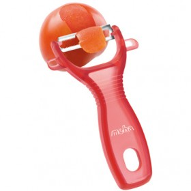MOHA TOMATO PEEL WITH TRANSPARENT RED PLASTIC HANDLE