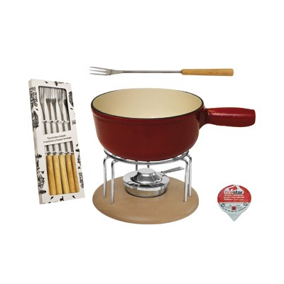 MOHA SET FOR CHEESE FONDUE PZ 9 RED / NATURE HC 26810