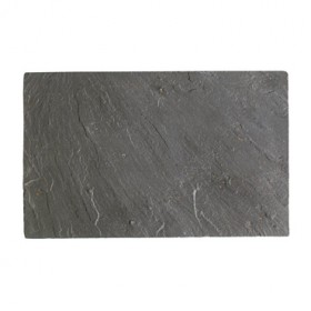 MOHA STONE TRAY SLATE FOR COOKING CM. 40X25 WITH FEET