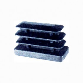 RECTANGULAR PLASTIFIED FINNED TIPS BLACK 20X40 MM