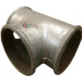 FEMALE GALVANIZED TEE FITTING DIAM. 4 inch.
