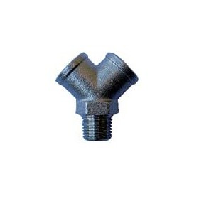 3/8 M - M- F THREADED AY FITTING