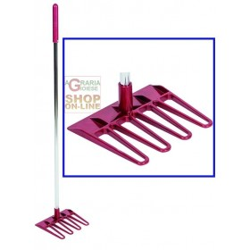 RAKE FOR HORSE HANDLING MOD. LUXURY WITH HANDLE CM. 19X92