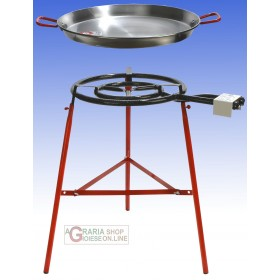 REBER KIT PAELLA CM. 60 INCLUDING STOVE, THREE-FEET SUPPORT AND