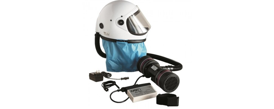 Full face protection helmets for dust and pesticides